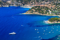 Aerial view on Cassis and Calanque Coast Stock Photo