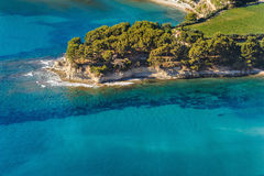 Aerial view of Cassis from the coastal path Royalty Free Stock Photography