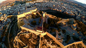 Aerial view of castle Alicante Stock Photography