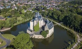 Aerial view of castle Gemen in Nordrhein-Westfalen Royalty Free Stock Images