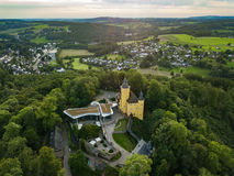 Aerial view from the castle Homburg in Nuembrecht. Germany Stock Photography