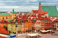 Aerial view of Castle Square in Warsaw, Poland. Stock Images