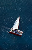 Aerial view Catamaran Stock Images
