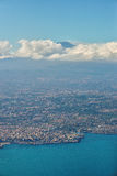 Aerial view of Catania, Sicily and the Etna Volcano Stock Photography