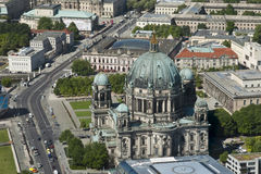 Aerial view of Cathedral Berlin. The building of the Cathedral in Berlin, Germany Royalty Free Stock Photography