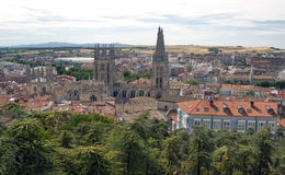Aerial view of cathedral of Burgos Royalty Free Stock Image