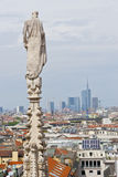 Aerial view from Cathedral over Milan, Italy Stock Photography