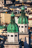Aerial view of Cathedral in Salzburg Stock Images