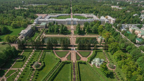 Aerial view of Catherine palace and Catherine park. In Pushkin, Russia stock photo