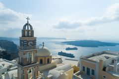 Aerial view of Catholic Cathedral Church of Saint John The Baptist royalty free stock photos