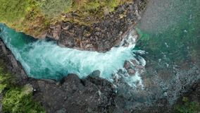 Aerial view of Caunahue river in southern Chile stock video