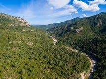 Aerial  view of Cavu natural pool near Tagliu Rossu and Sainte L Stock Images