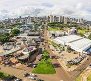 Aerial view from the Ceara avenue in Campo Grande MS. Campo Grande, Brazil - February 19, 2018: Aerial view from the Ceara avenue in Campo Grande city, one of Royalty Free Stock Photography