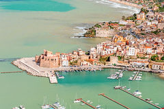 Aerial view of Cefalu Royalty Free Stock Image