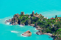 Aerial view of Cefalu Stock Photography