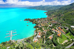 Aerial view on Cefalu, Sicily Royalty Free Stock Image
