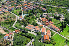 Aerial view on Cefalu Stock Photography