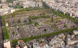 Aerial view of  Cemetery in Paris Stock Photo