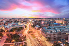 Aerial view of the center of Bucharest, Romania Stock Image