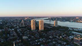 Aerial view center city Philadelphia stock video