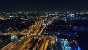 Aerial View Center City Philadelphia & Surrounding Area at Night stock footage