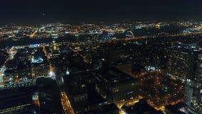 Aerial View Center City Philadelphia & Surrounding Area at Night.  stock footage
