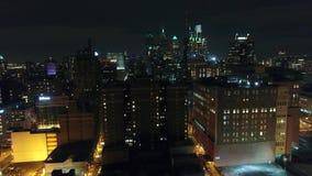 Aerial View Center City Philadelphia & Surrounding Area at Night