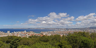 Aerial view on center of Marseille Royalty Free Stock Photography