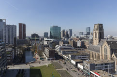 Aerial view of the center of Rotterdam, The Netherlands Royalty Free Stock Image