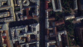 Aerial view of center of St. Petersburg stock video