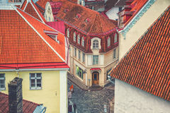 Aerial view of the center of Tallinn, Estonia Stock Images