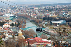 Aerial view on the center of Tbilisi Royalty Free Stock Photos
