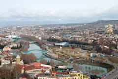 Aerial view on the center of Tbilisi Royalty Free Stock Image