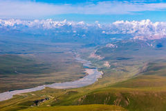 Aerial View of Central Asia Landscape Stock Image
