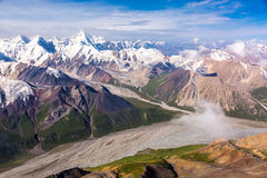 Aerial View of Central Asia Landscape Royalty Free Stock Photo