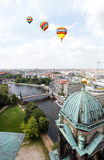Aerial view of central Berlin Stock Image