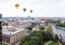 Aerial view of central Berlin Royalty Free Stock Photos