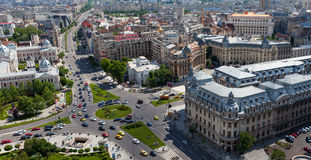 Aerial view of central Bucharest Royalty Free Stock Images