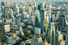 Aerial view Central Business Bangkok city Stock Image
