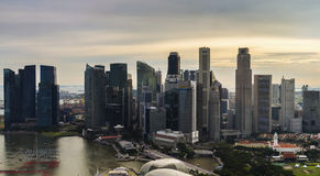 Aerial view of central business district, Singapore Stock Photos