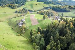 Aerial view of central europe rural village Stock Image
