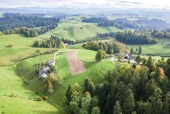 Aerial view of central europe rural village Stock Photography