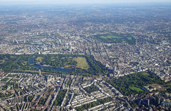 Aerial view of Central London and Hyde Park Stock Photos