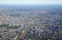Aerial view of Central London and the River Thames Stock Photo