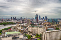 Aerial View of Central London and the river Thames Stock Image