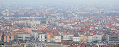 Aerial view of the central Lyon Stock Photos