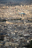 Aerial view of central Paris with Pompidou Center, France Stock Photo