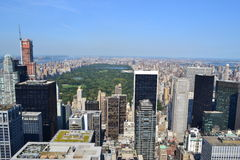 Aerial View of Central Park royalty free stock photo