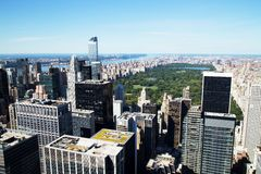 Aerial View of Central Park and Midtown, New York City Royalty Free Stock Images