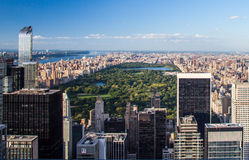 Aerial view Central Park Stock Photo